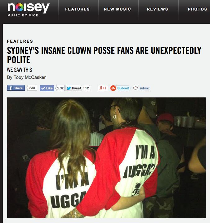 Insane Clown Posse Sydney gig Noisey