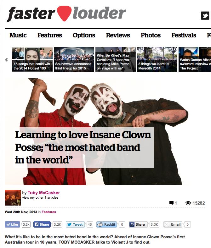 Insane Clown Posse Violent J interview