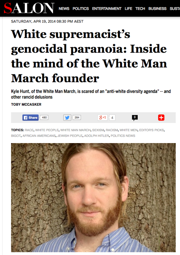 Salon White Man March